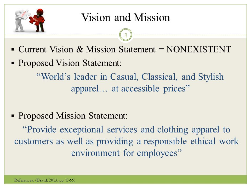 vision and mission current vision mission statement nonexistent proposed vision statement