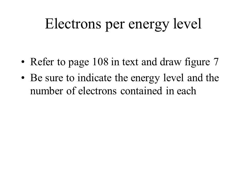 Electrons per energy level