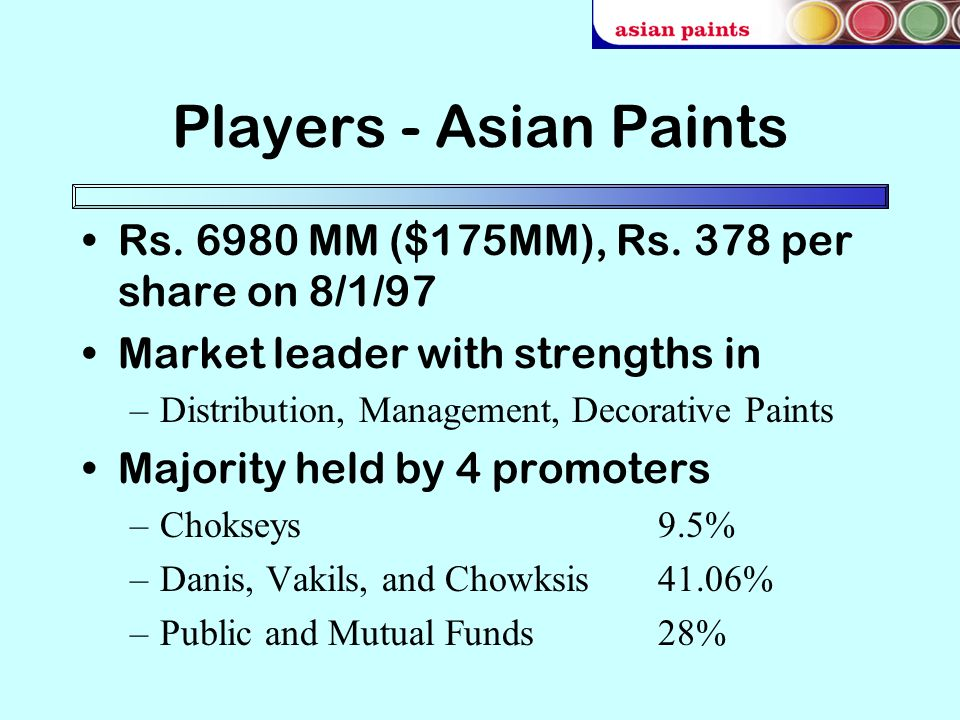 The expert, asian paints market share
