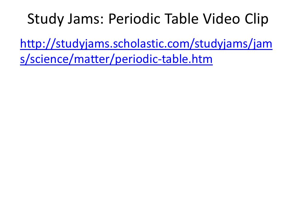 Periodic table lesson 3 6p ppt video online download study jams periodic table video clip urtaz Gallery