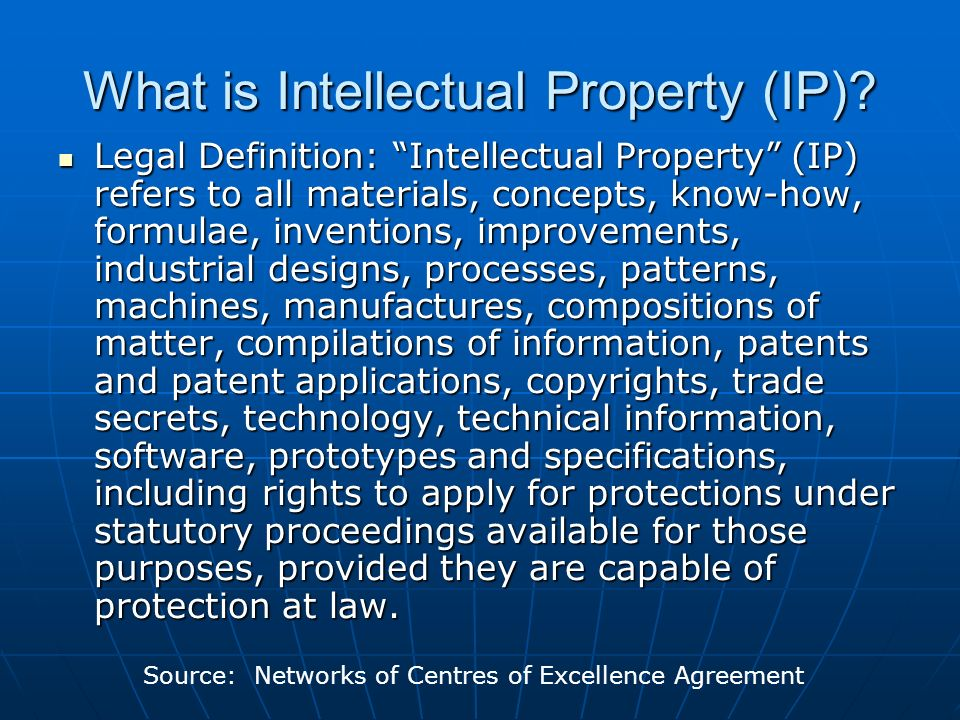 An Introduction To Intellectual Property What Are Patents Ppt