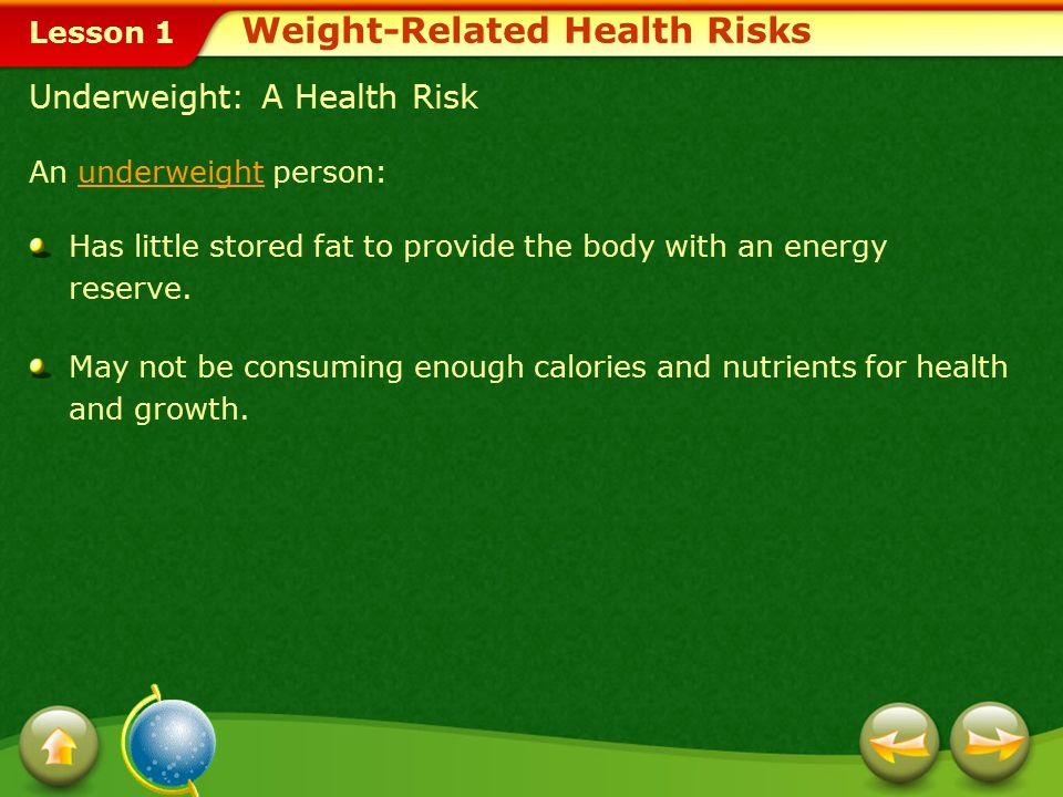Weight-Related Health Risks