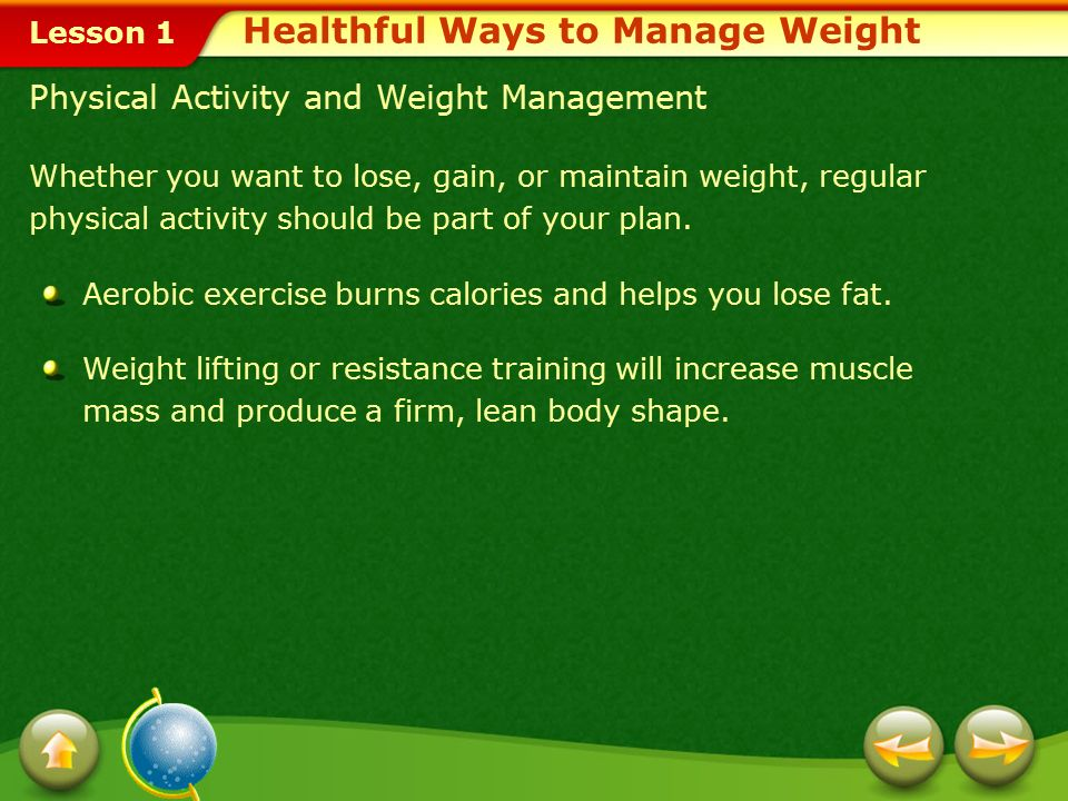 Healthful Ways to Manage Weight