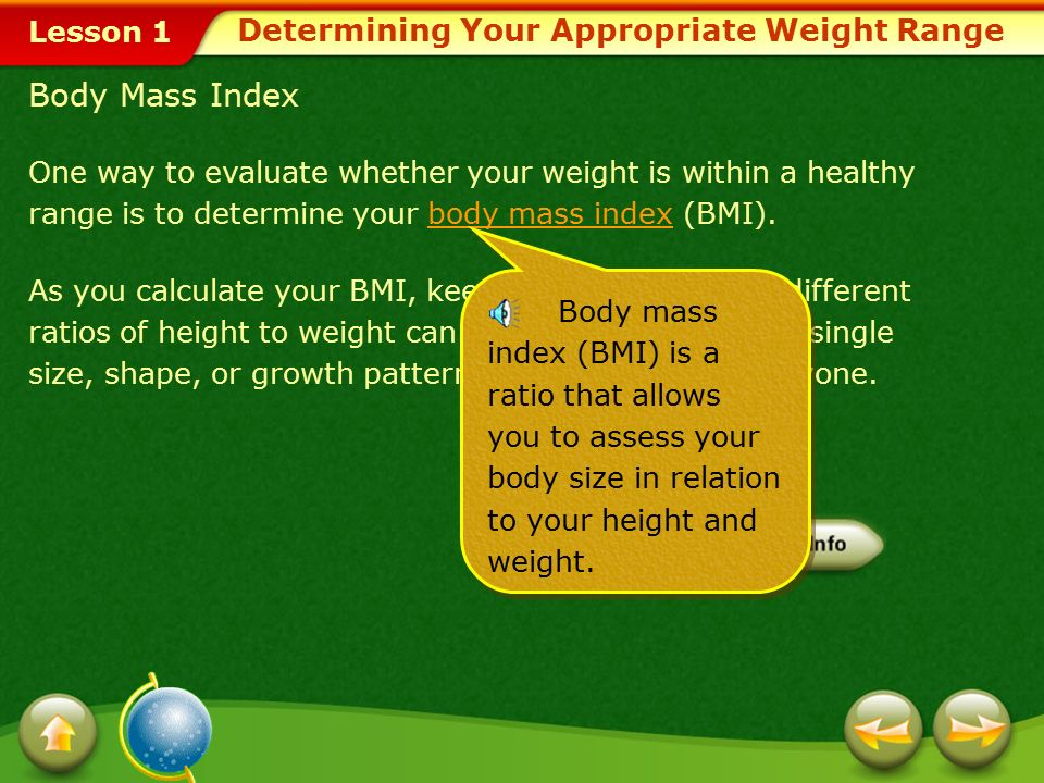 Determining Your Appropriate Weight Range