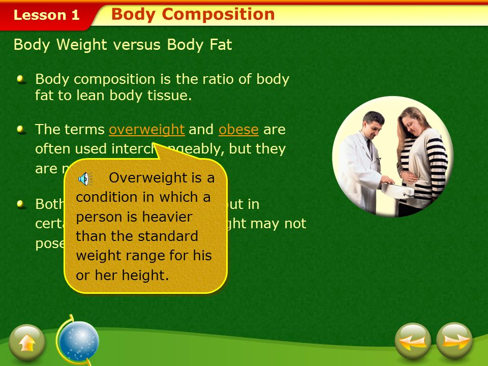 Body Composition Body Weight versus Body Fat