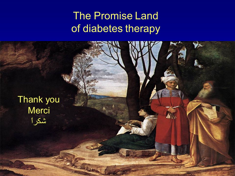 The Promise Land of diabetes therapy