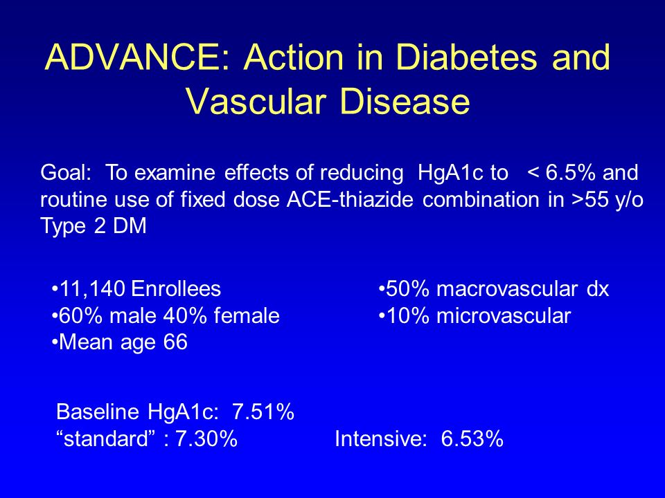 ADVANCE: Action in Diabetes and Vascular Disease