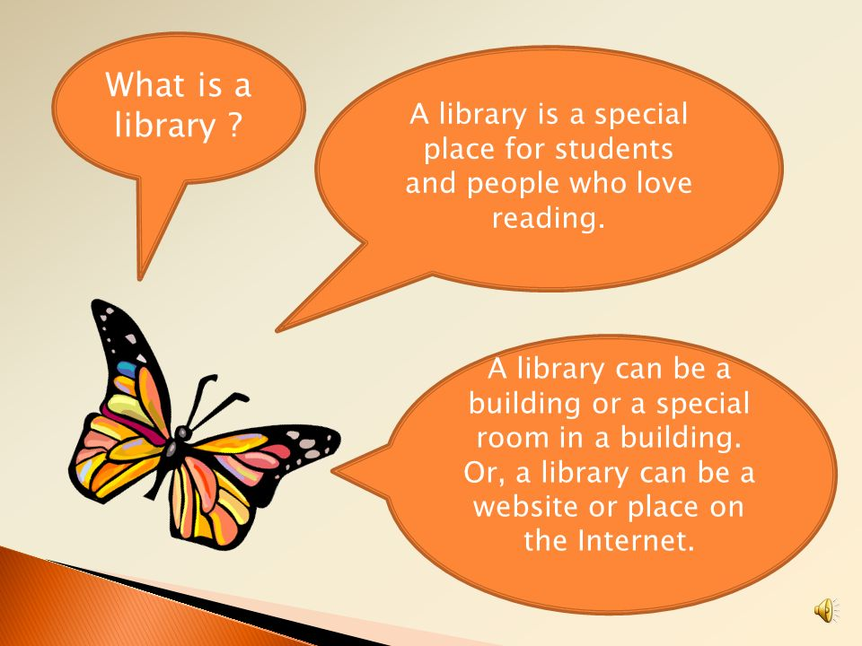 A library is a special place for students and people who love reading.