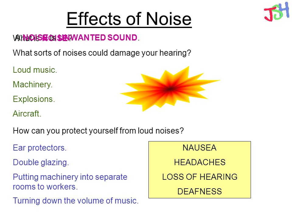 What are the effects of noise on your body