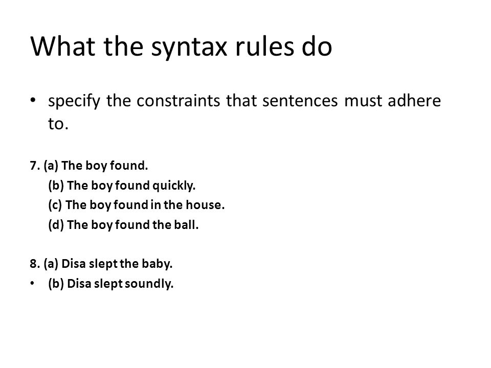 Syntax. - ppt video online download