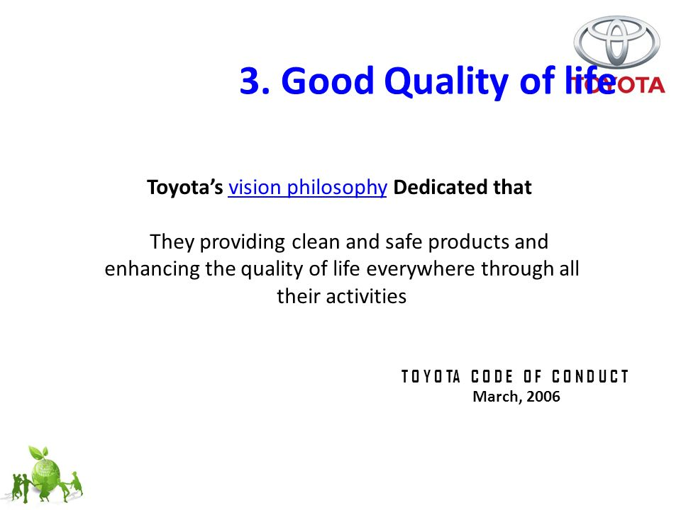 The concept of Managing Sustainability on Toyota - ppt video online
