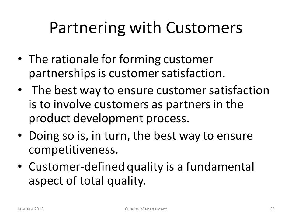 supplier partnership in total quality management pdf