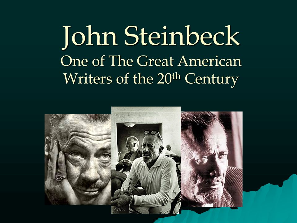a free essay on the biography of john steinbeck an american writer Early years: salinas to stanford: 1902-1925 when steinbeck was born, his father, john ernst steinbeck, was a manager at sperry flour mill in salinas.