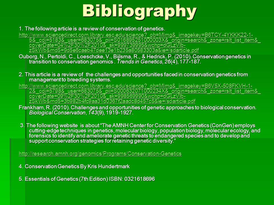 Conservation Genetics Ppt Download