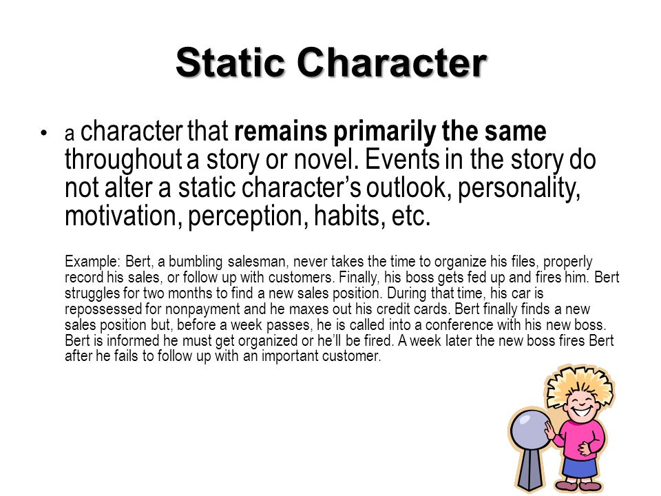 static character definition literature