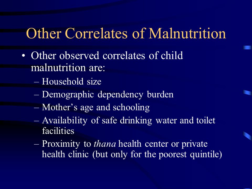 Other Correlates of Malnutrition