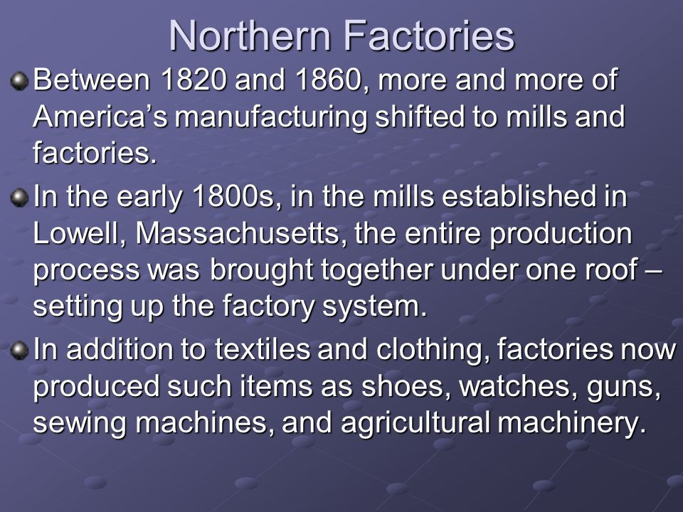 american factory system