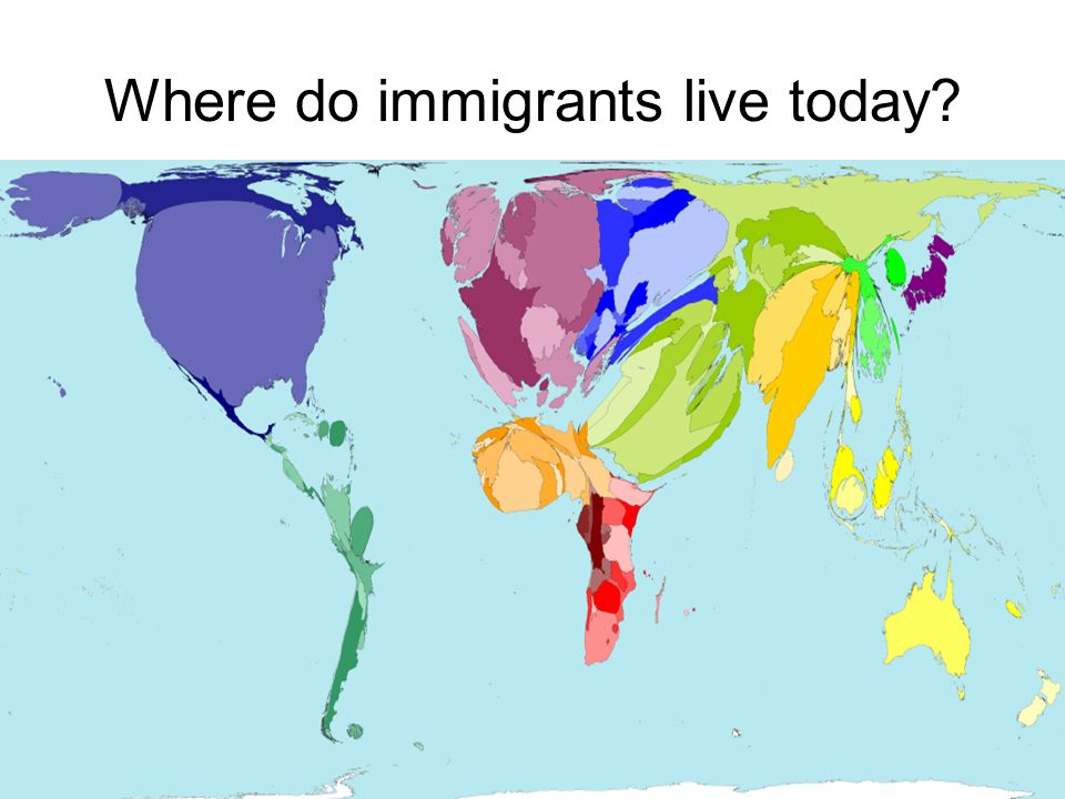 Where do immigrants live today