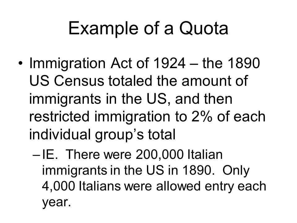 Example of a Quota