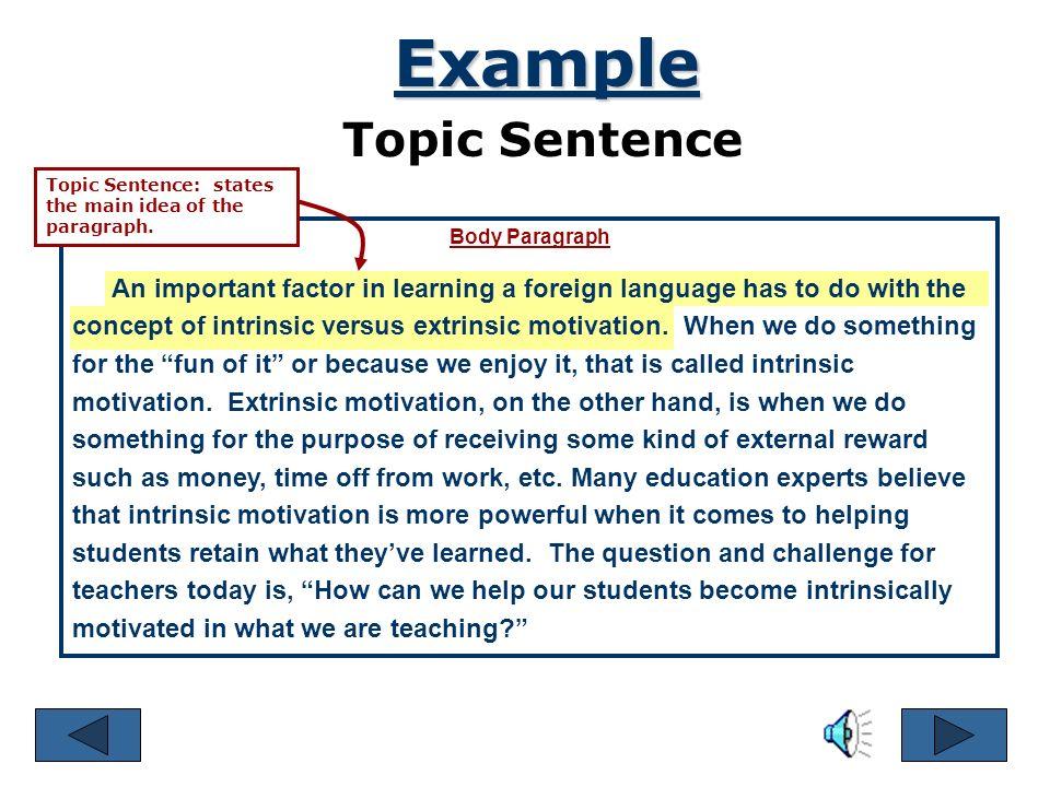 central idea sentence examples
