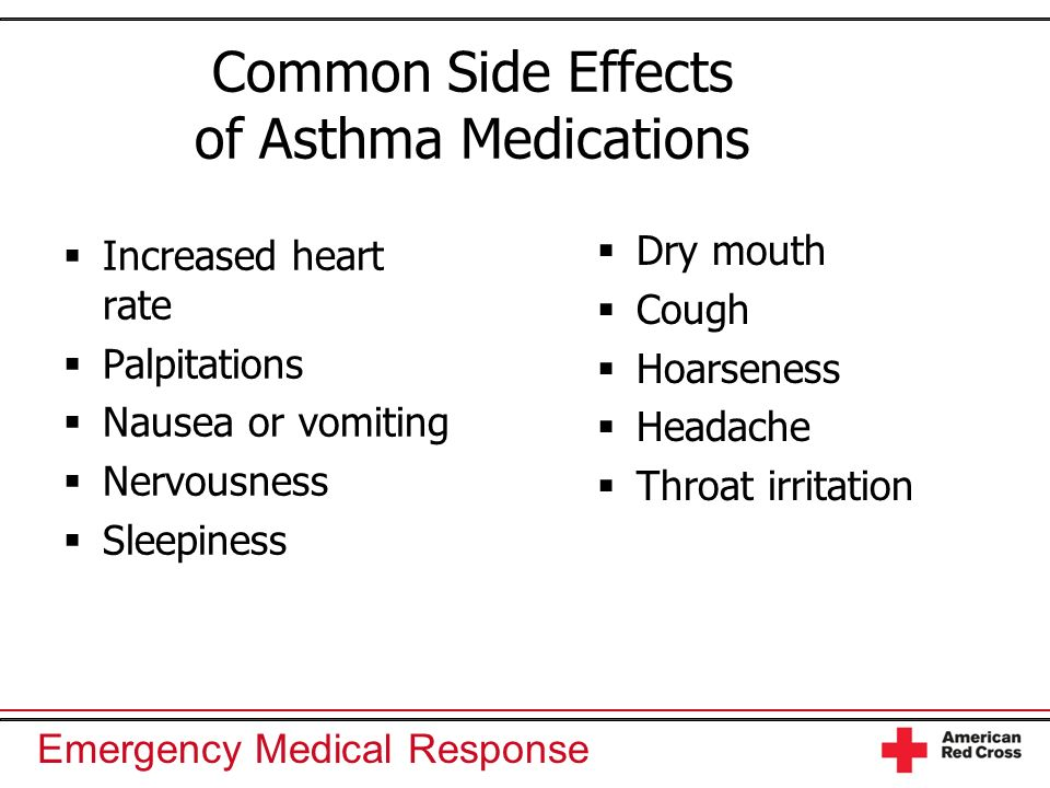 the effects of medication on the increased performance of asthma patients Physical effects of asthma having asthma can affect a person in many ways physical effects can range from the somewhat annoying (an occasional cough) all the way to the life-threatening (not being able to breathe.