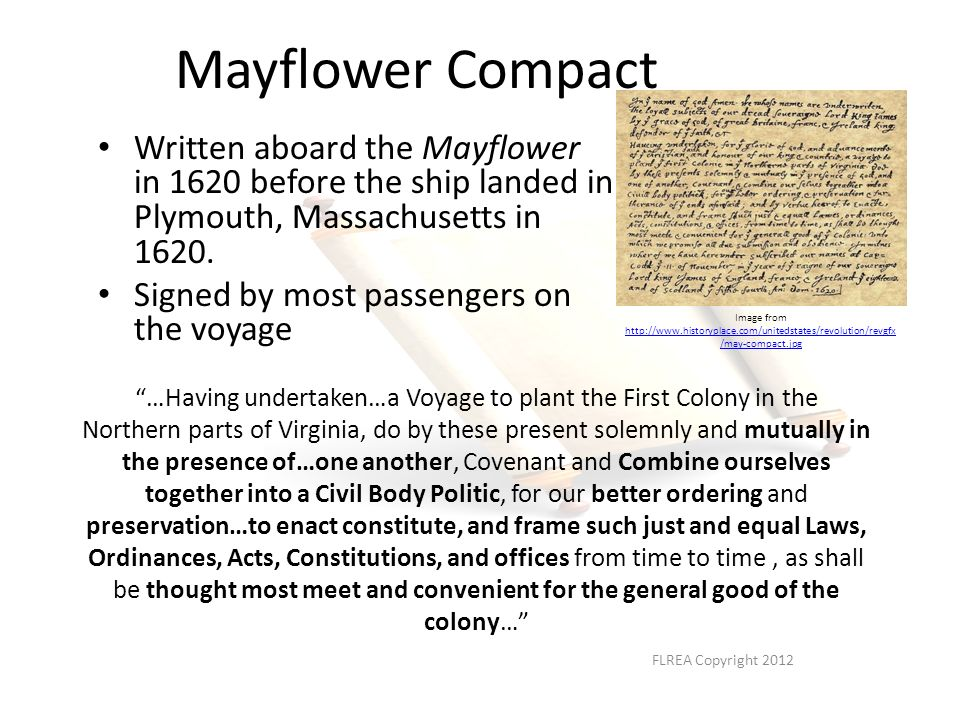 who is writing the mayflower compact