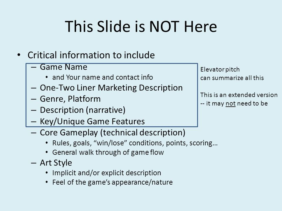 Working Game Title Game Pitch By Your Name Game Pitch Template Ppt - Game pitch document template