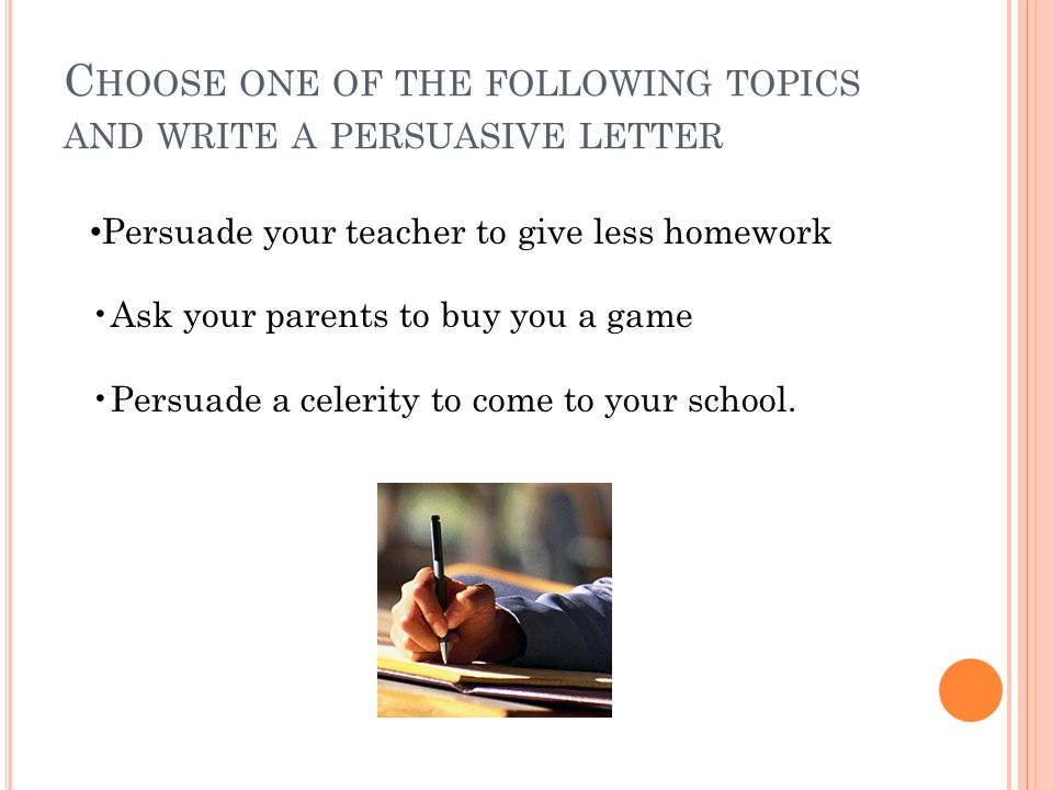 persuasive letter to parents