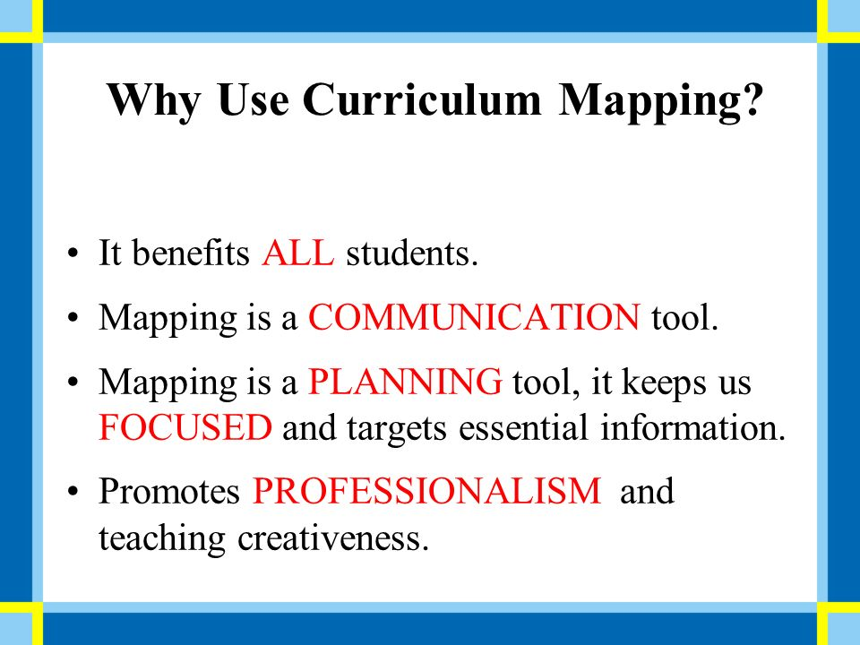 curriculum mapping ppt download