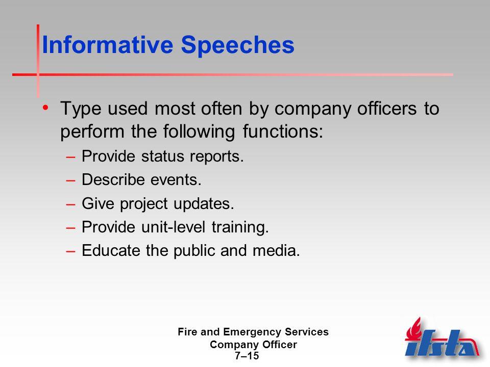 types of informative speech topics