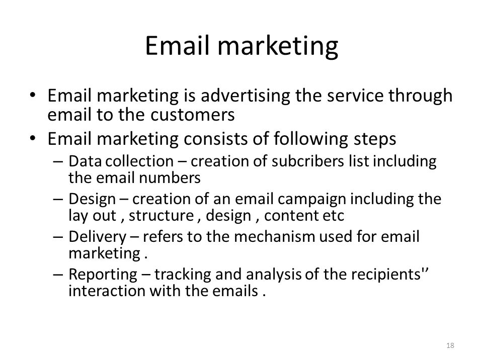 marketing  marketing is advertising the service through  to the customers.  marketing consists of following steps.