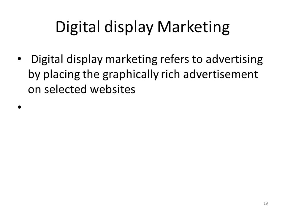 Digital display Marketing