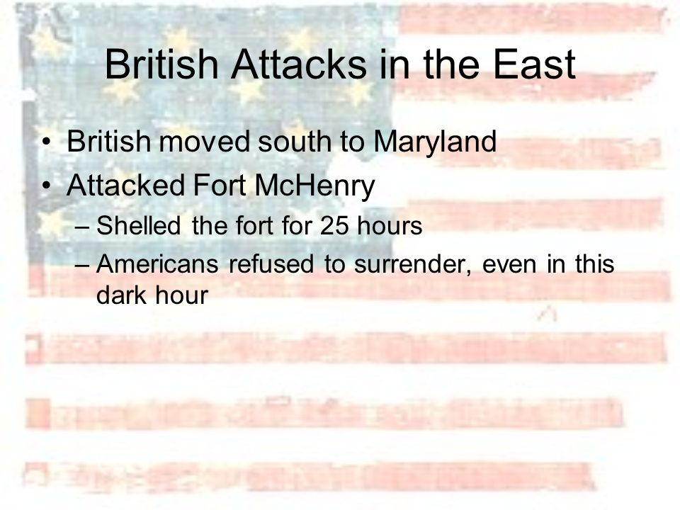 British Attacks in the East