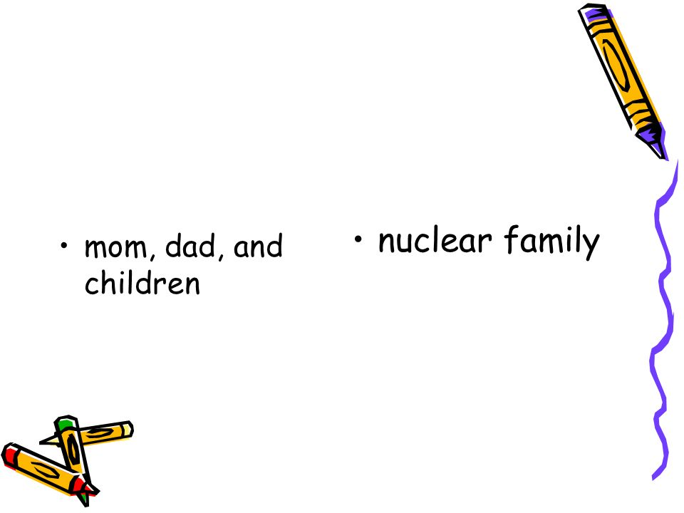 mom, dad, and children nuclear family