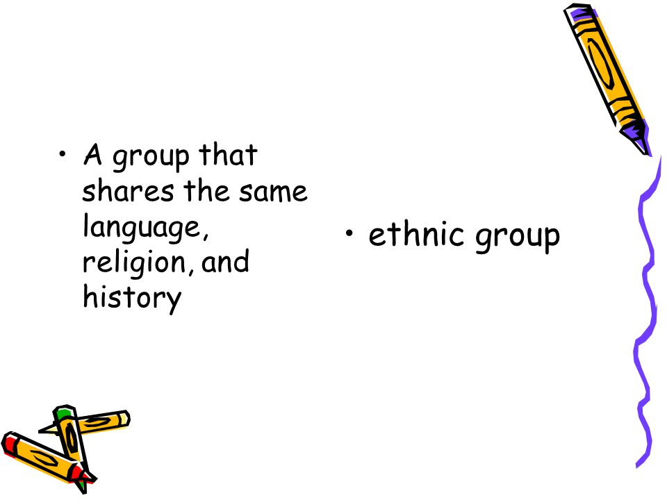 A group that shares the same language, religion, and history