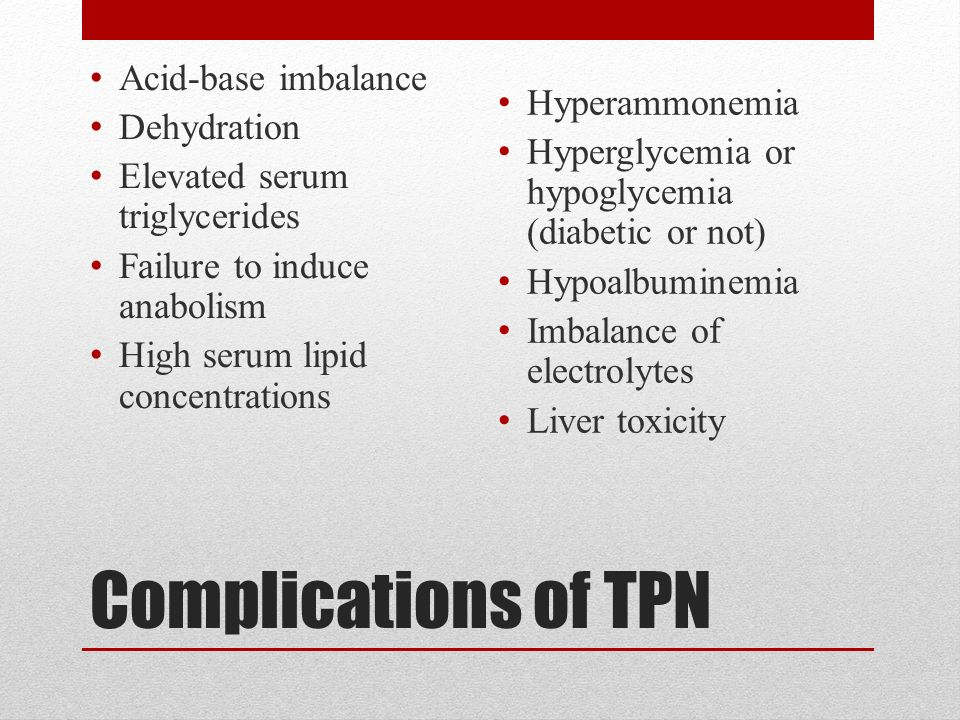 42 complications of tpn