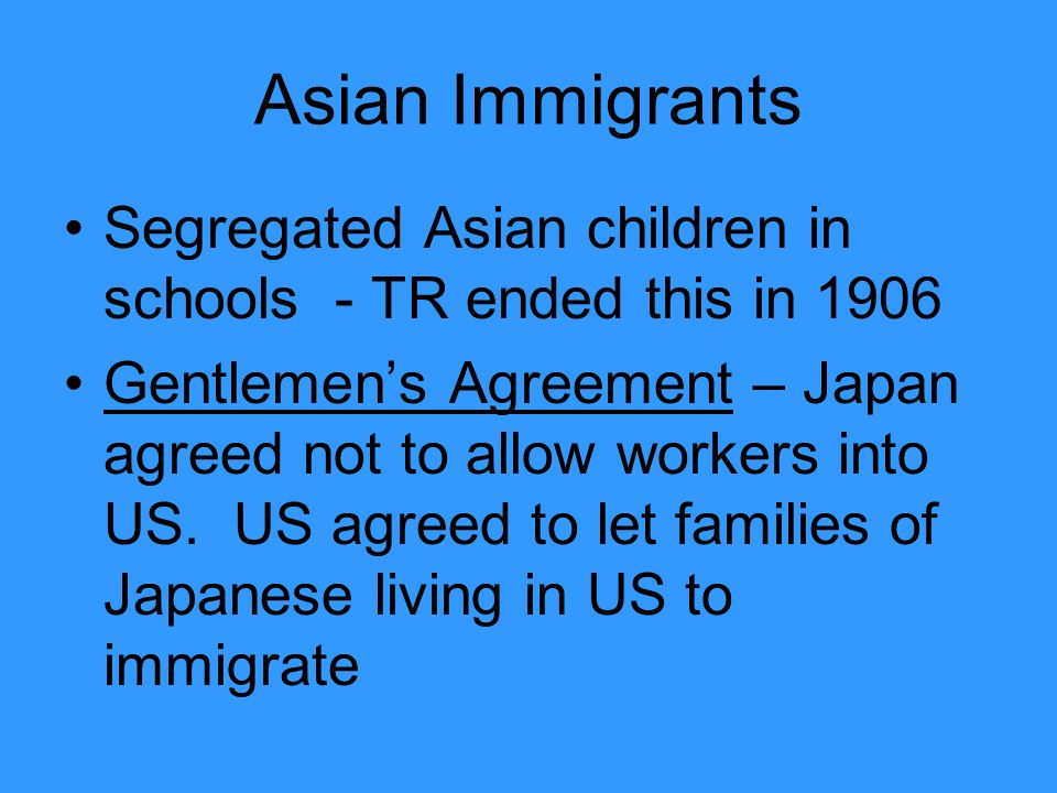 Asian Immigrants Segregated Asian children in schools - TR ended this in