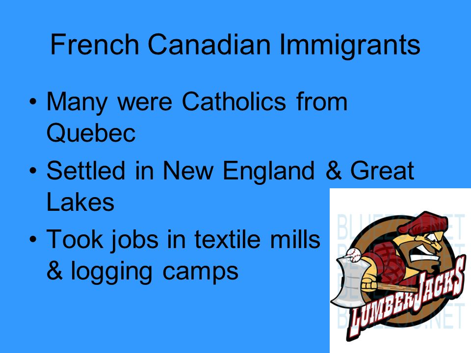 French Canadian Immigrants
