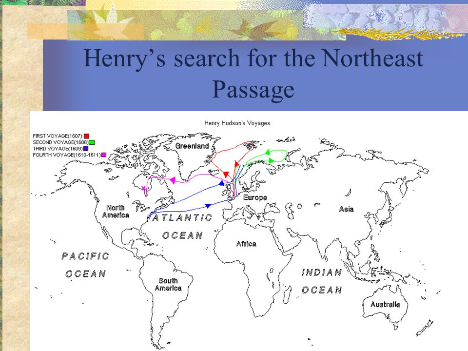 Henry's search for the Northeast Passage