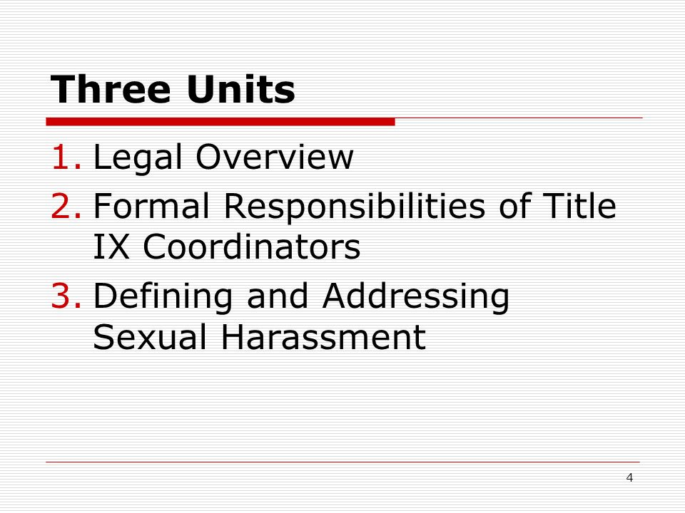 Summary of title ix law and sexual harassment