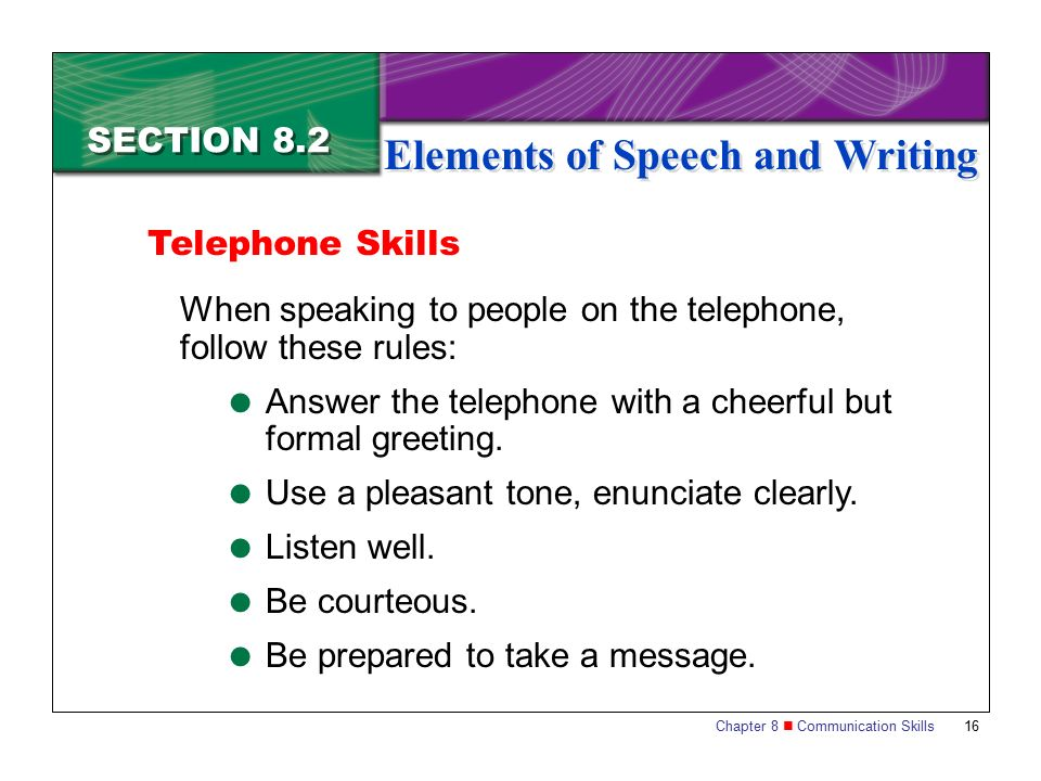 rules for writing speech