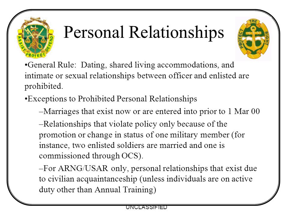 Dating between officers and enlisted
