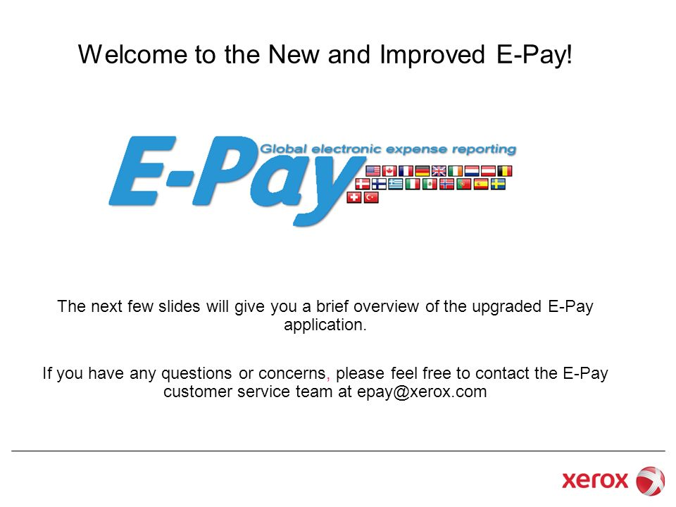 Welcome to the New and Improved E-Pay!