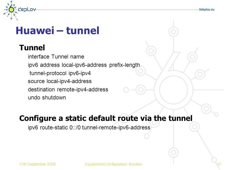 Equipment Configuration: Routers - ppt download