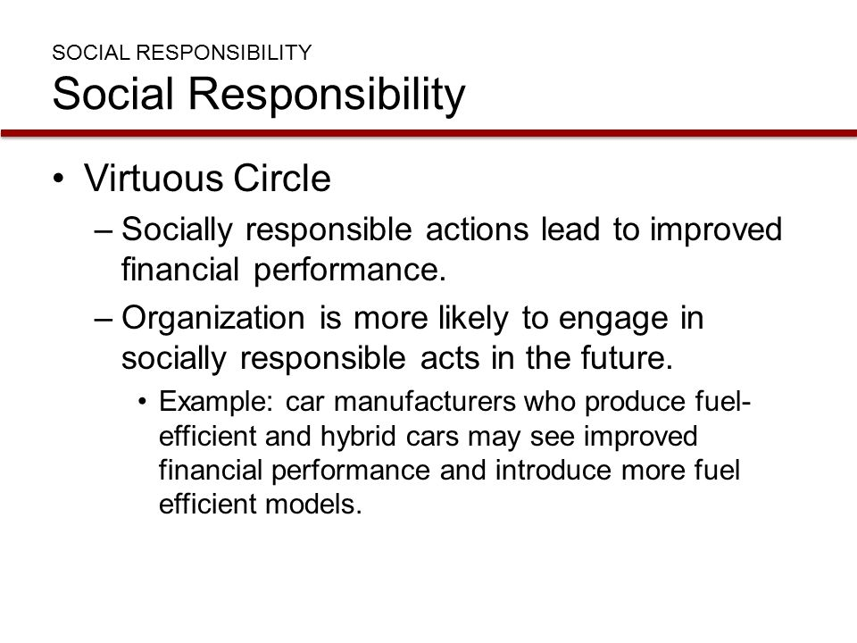 ethical and ethical socially responsive Being socially responsible will enable you to get greater profits, be more responsive to consumer demands and attract investment an example of a socially responsible company is the body shop (harvey, 2010.