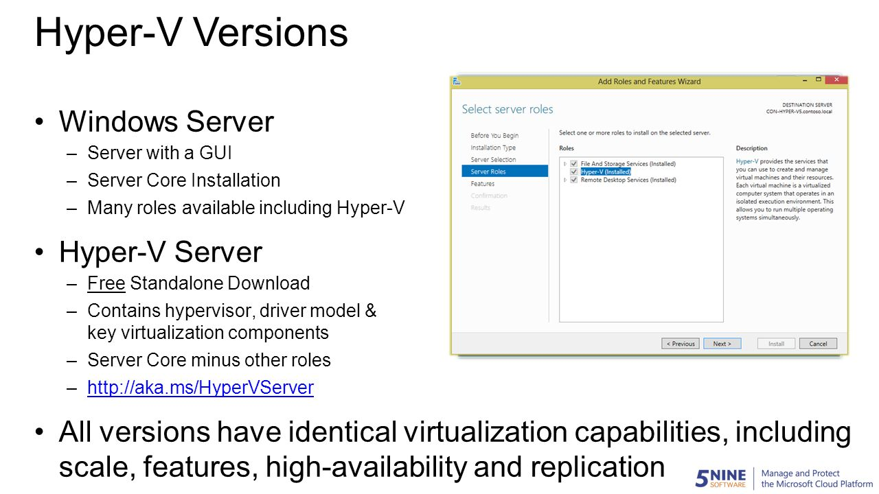 Introduction to Hyper-V Management for the VMware Admin
