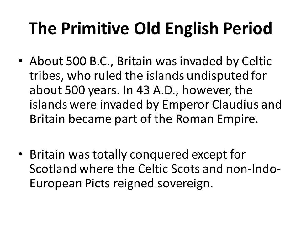 old english period