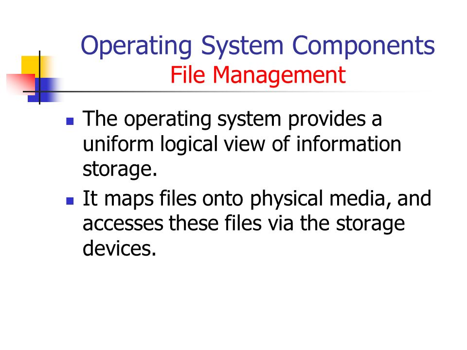 Introduction to Operating System and Operating System Components