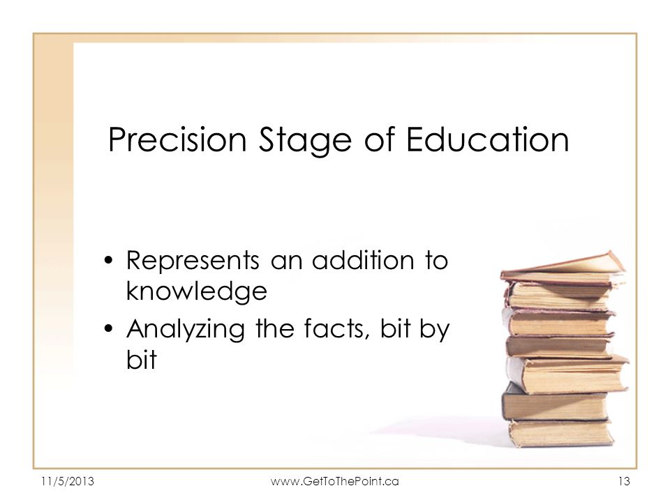 Precision Stage of Education