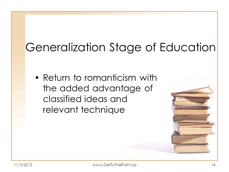 Generalization Stage of Education